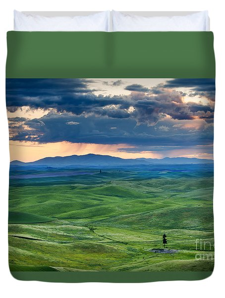 Palouse Storm Duvet Cover by Mike  Dawson