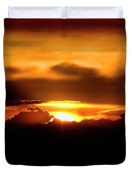 Palouse Sunset Duvet Cover by David Patterson