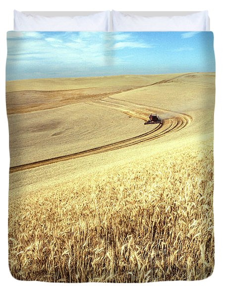 Palouse Wheat Duvet Cover by USDA and Photo Researchers