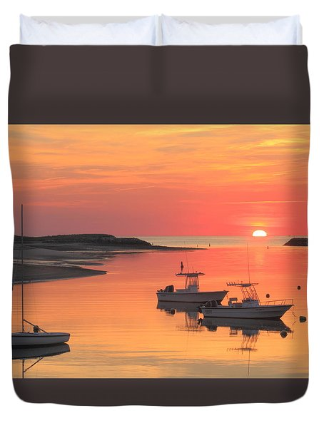 Pamet Harbor Cape Cod Truro Sunset Duvet Cover