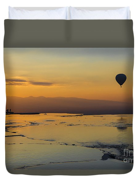 Pammukale Sunset Duvet Cover by Yuri Santin