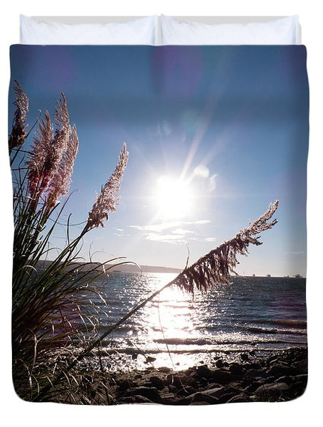Pampas By The Sea Duvet Cover