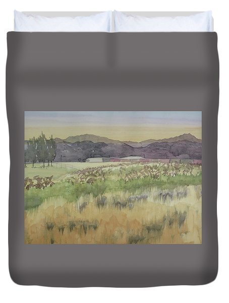 Pampas Grass Duvet Cover by Bethany Lee