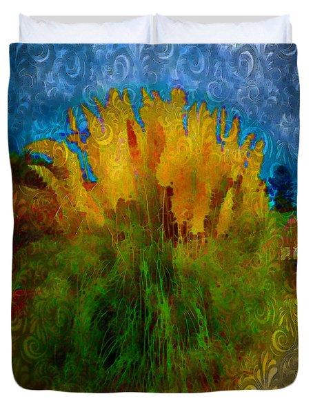 Pampas Grass Duvet Cover by Iowan Stone-Flowers