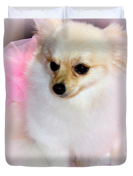 Pampered Pomeranian  Duvet Cover