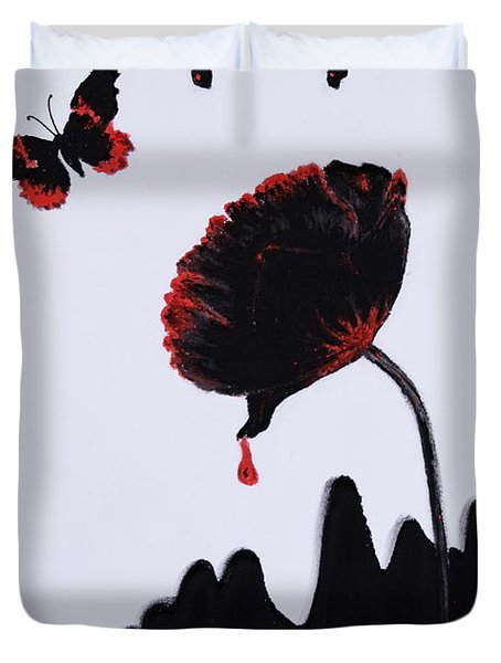 Pan Is Dead Duvet Cover by Stanza Widen