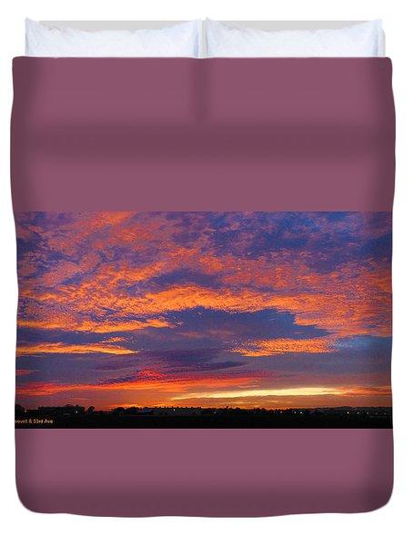 Pana 53rd Ave Sunrise Duvet Cover