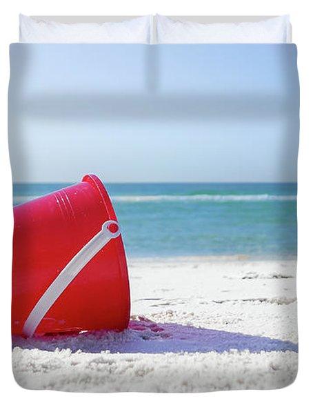 Panama Beach Florida Sandy Beach Duvet Cover