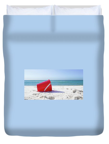 Panama Beach Florida Sandy Beach Duvet Cover