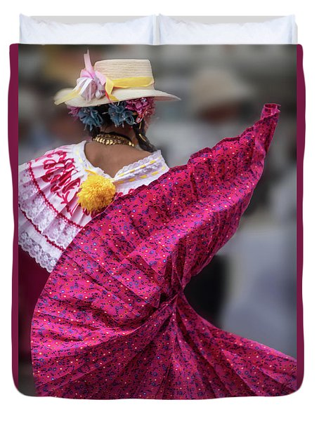 Panamanian Dancer 2 Duvet Cover