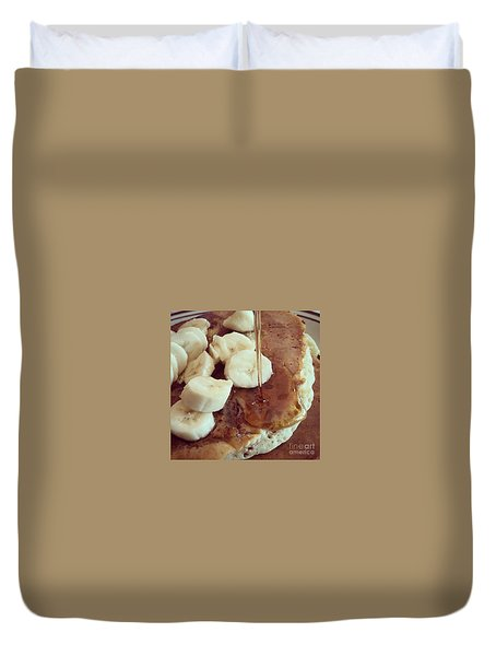 Duvet Cover featuring the photograph Pancakes  by Raymond Earley