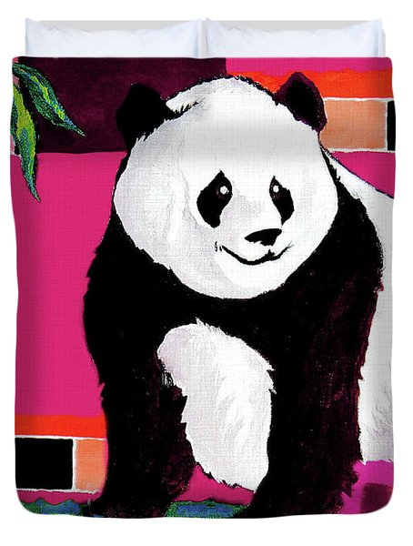 Panda Abstrack Color Vision  Duvet Cover
