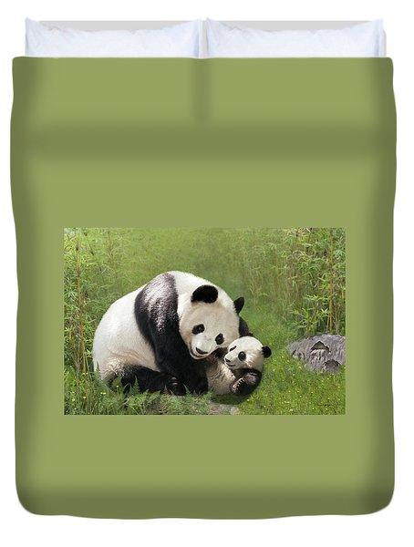 Panda Bears Duvet Cover