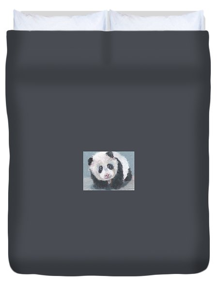 Panda For Panda Duvet Cover by Jessmyne Stephenson