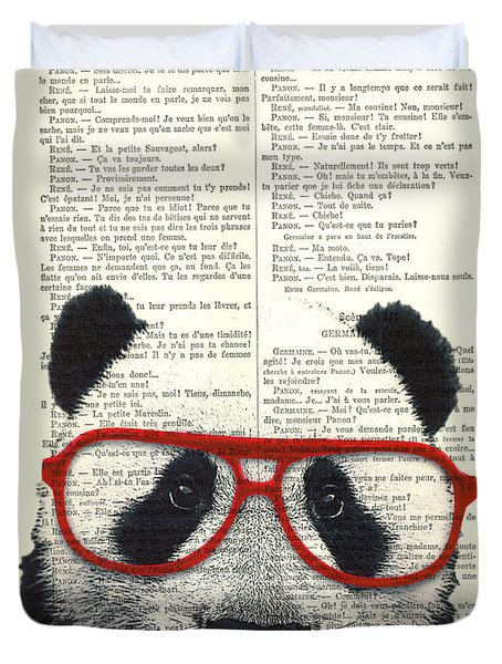 Panda Nursery Art Duvet Cover
