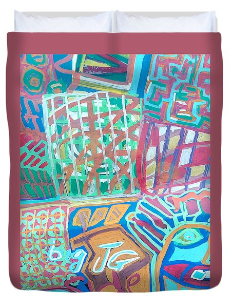 Panel Of Hand Painted Mondeo Duvet Cover