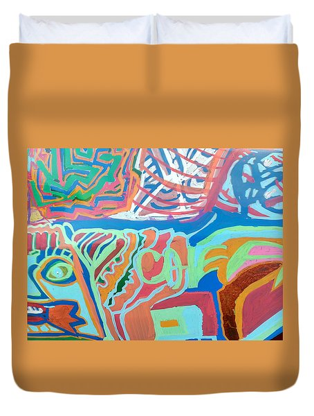 Panel On Hand Painted Ford Mondeo Duvet Cover