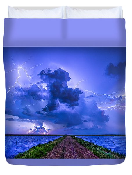 Panhandle Flood Duvet Cover