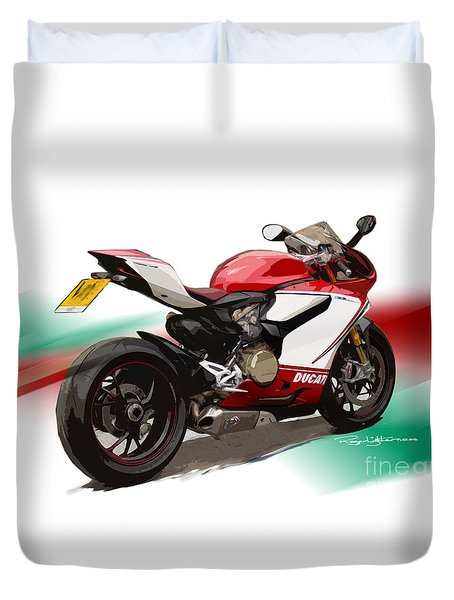 Panigale S Duvet Cover by Roger Lighterness