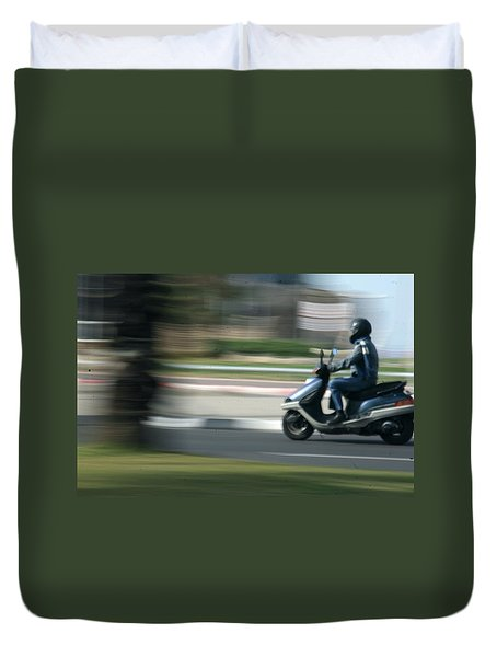 Panning At Tel Aviv Duvet Cover