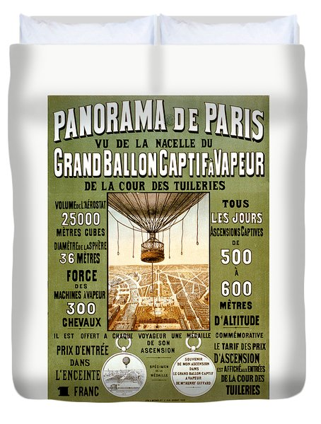 Panorama De Paris Duvet Cover