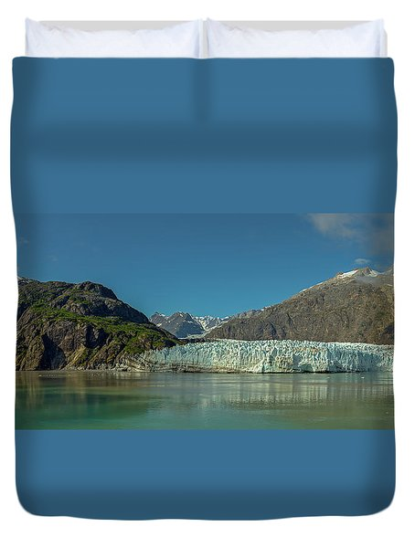 Duvet Cover featuring the photograph Panorama Of Glacier Bay, Alaska by Brenda Jacobs