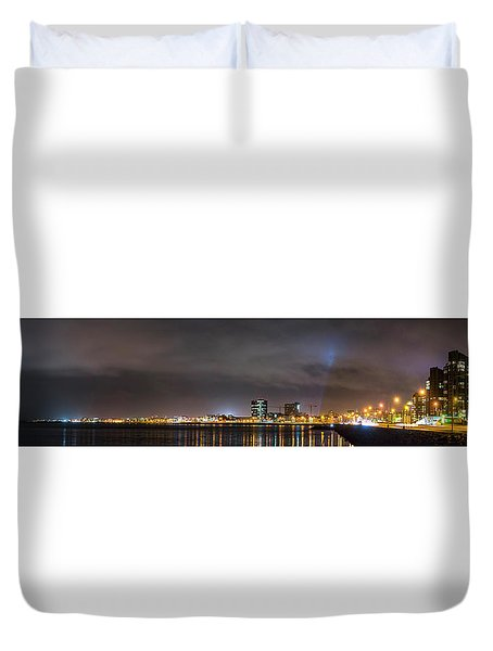 Panorama Of Reykjavik Iceland Duvet Cover by Joe Belanger