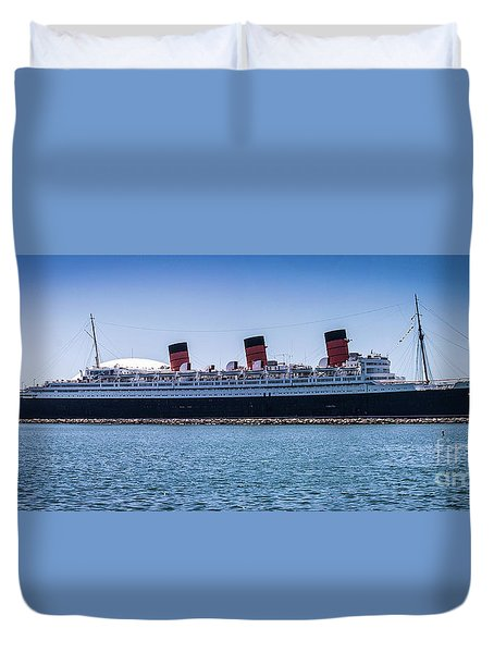 Panorama Of The Queen Mary Duvet Cover