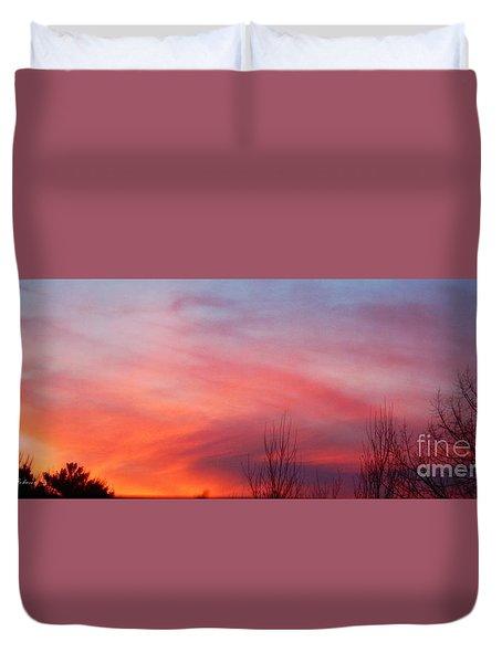 Panorama Sunset  Duvet Cover