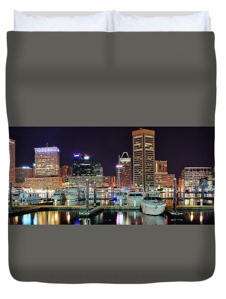 Panoramic Baltimore Duvet Cover