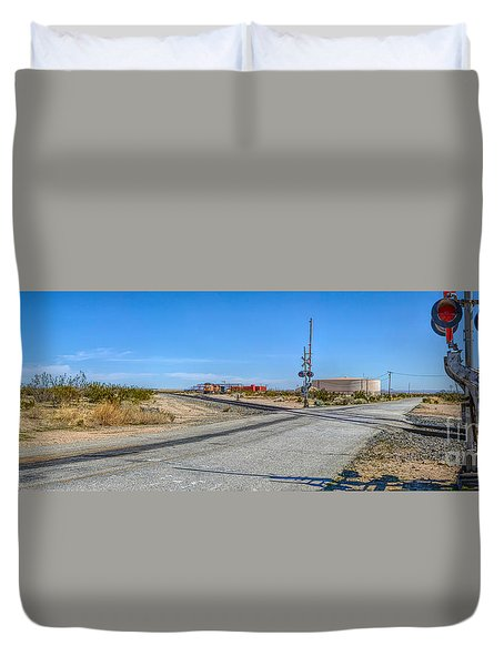 Panoramic Railway Signal Duvet Cover
