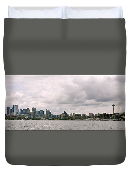 Panoramic Seattle Duvet Cover