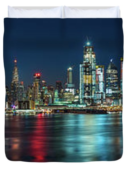Panoramic Skyline-manhattan Duvet Cover
