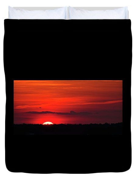 Panoramic Sunset Duvet Cover