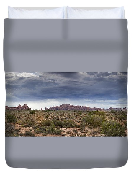 Panoramic View At Arches National Park Duvet Cover