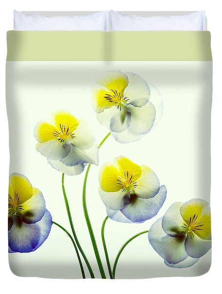 Pansies 5 Duvet Cover
