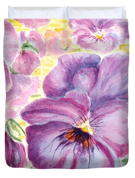 Pansies Duvet Cover