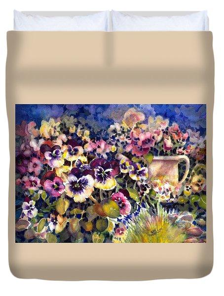 Pansy Garden Duvet Cover