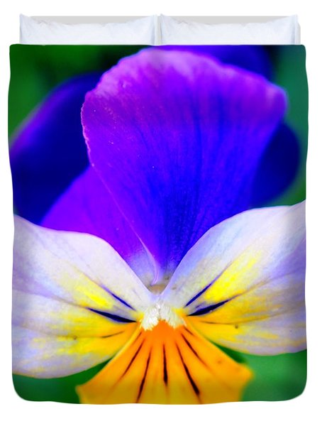 Pansy Duvet Cover by Kathleen Struckle