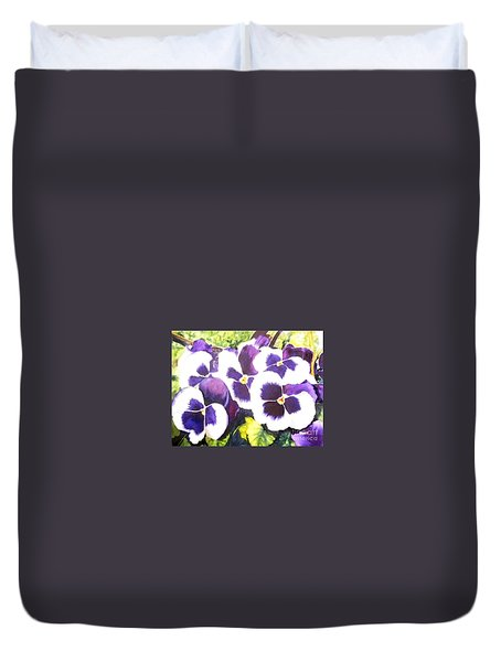 Pansy Party Duvet Cover