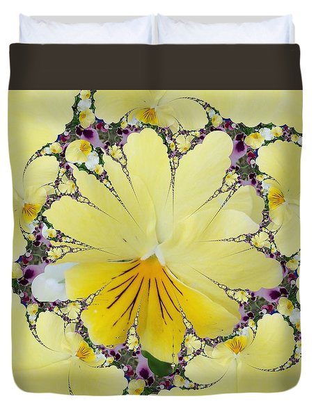 Pansy Swirls Duvet Cover