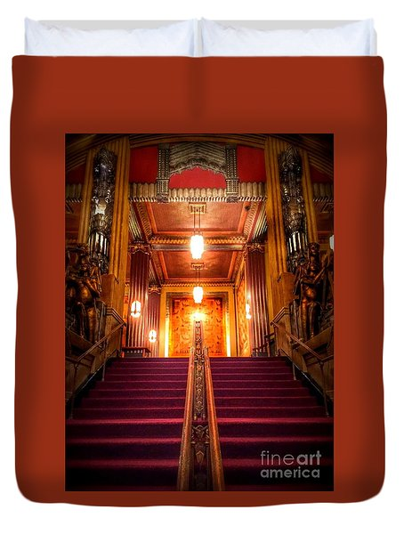 Pantages Theater's Grand Staircase Duvet Cover