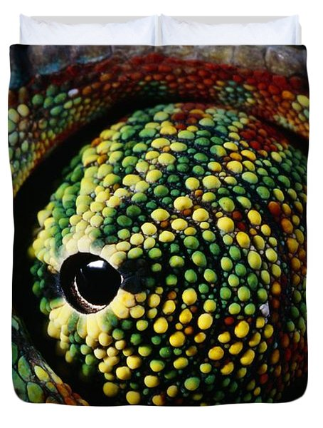 Panther Chameleon Eye Duvet Cover