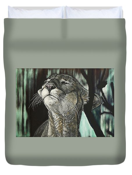 Panther, Cool Duvet Cover