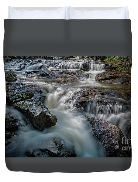 Panther Creek Upper Falls Duvet Cover