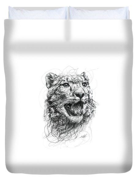 Leopard Duvet Cover by Michael Volpicelli