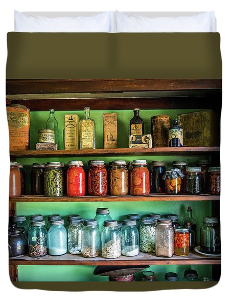 Duvet Cover featuring the photograph Pantry by Paul Freidlund