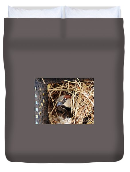 Papa Bird Duvet Cover