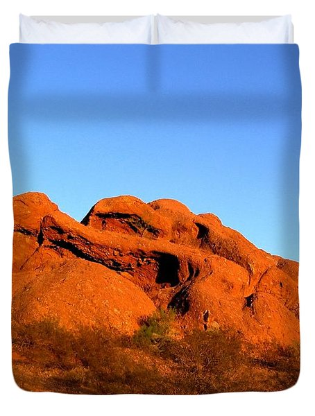 Duvet Cover featuring the photograph Papago Park 2 by Michelle Dallocchio
