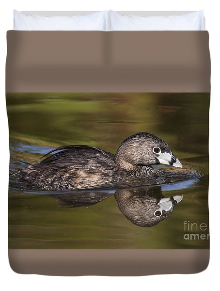 Duvet Cover featuring the photograph Papago Park Grebe by Ruth Jolly